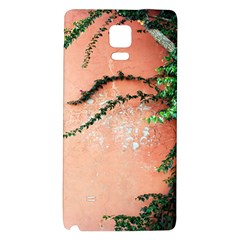 Background Stone Wall Pink Tree Galaxy Note 4 Back Case