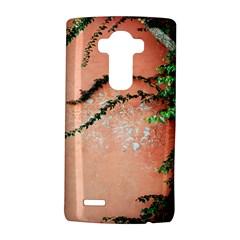 Background Stone Wall Pink Tree LG G4 Hardshell Case