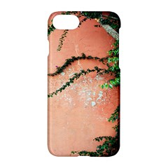 Background Stone Wall Pink Tree Apple iPhone 7 Hardshell Case