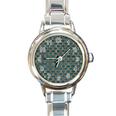 Background Vert Round Italian Charm Watch