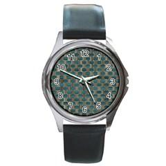 Background Vert Round Metal Watch