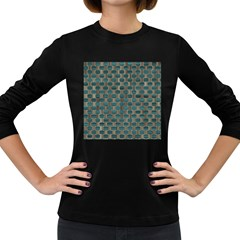 Background Vert Women s Long Sleeve Dark T-Shirts