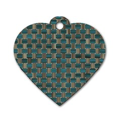 Background Vert Dog Tag Heart (One Side)