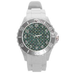 Background Vert Round Plastic Sport Watch (l)