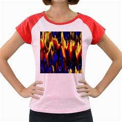 Banner Header Plasma Fractal Women s Cap Sleeve T Shirt