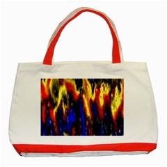 Banner Header Plasma Fractal Classic Tote Bag (Red)