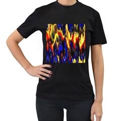 Banner Header Plasma Fractal Women s T-Shirt (Black)