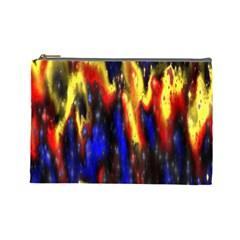 Banner Header Plasma Fractal Cosmetic Bag (Large)