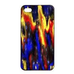 Banner Header Plasma Fractal Apple iPhone 4/4s Seamless Case (Black)