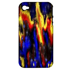 Banner Header Plasma Fractal Apple iPhone 4/4S Hardshell Case (PC+Silicone)