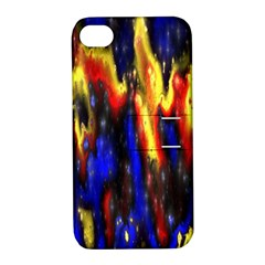 Banner Header Plasma Fractal Apple iPhone 4/4S Hardshell Case with Stand