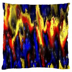 Banner Header Plasma Fractal Standard Flano Cushion Case (Two Sides)