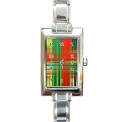 Background Texture Structure Green Rectangle Italian Charm Watch