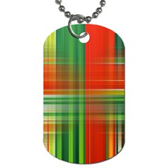 Background Texture Structure Green Dog Tag (One Side)