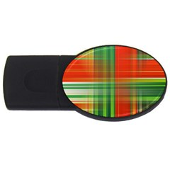 Background Texture Structure Green USB Flash Drive Oval (1 GB)