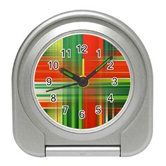 Background Texture Structure Green Travel Alarm Clocks