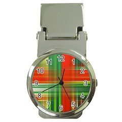 Background Texture Structure Green Money Clip Watches