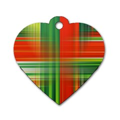 Background Texture Structure Green Dog Tag Heart (Two Sides)