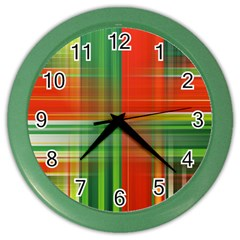 Background Texture Structure Green Color Wall Clocks