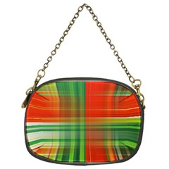 Background Texture Structure Green Chain Purses (Two Sides)