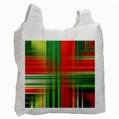 Background Texture Structure Green Recycle Bag (One Side)