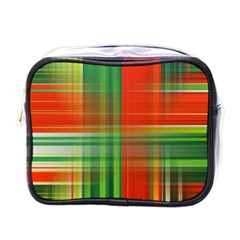 Background Texture Structure Green Mini Toiletries Bags
