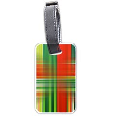 Background Texture Structure Green Luggage Tags (One Side)
