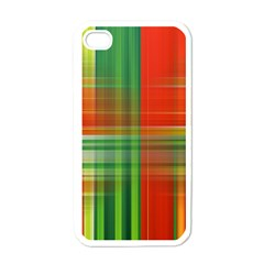Background Texture Structure Green Apple iPhone 4 Case (White)