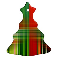 Background Texture Structure Green Christmas Tree Ornament (Two Sides)