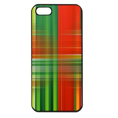 Background Texture Structure Green Apple iPhone 5 Seamless Case (Black)