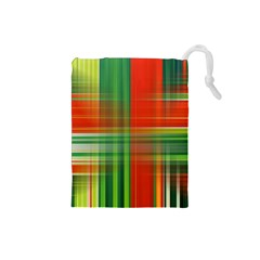 Background Texture Structure Green Drawstring Pouches (small)