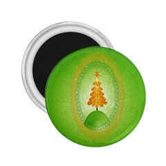 Beautiful Christmas Tree Design 2.25  Magnets