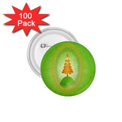 Beautiful Christmas Tree Design 1.75  Buttons (100 pack)