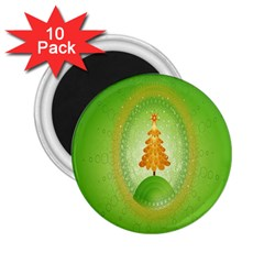 Beautiful Christmas Tree Design 2 25  Magnets (10 Pack)
