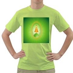 Beautiful Christmas Tree Design Green T-Shirt