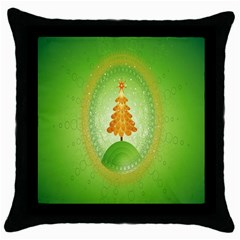 Beautiful Christmas Tree Design Throw Pillow Case (Black)