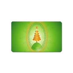 Beautiful Christmas Tree Design Magnet (name Card)
