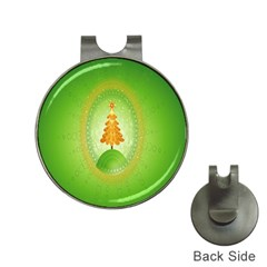 Beautiful Christmas Tree Design Hat Clips with Golf Markers