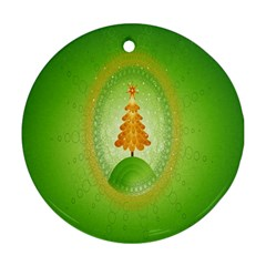 Beautiful Christmas Tree Design Round Ornament (two Sides)