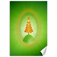 Beautiful Christmas Tree Design Canvas 12  x 18