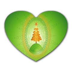 Beautiful Christmas Tree Design Heart Mousepads