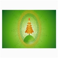 Beautiful Christmas Tree Design Large Glasses Cloth (2-Side)
