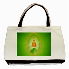 Beautiful Christmas Tree Design Basic Tote Bag (Two Sides)
