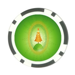 Beautiful Christmas Tree Design Poker Chip Card Guard