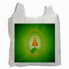 Beautiful Christmas Tree Design Recycle Bag (one Side)