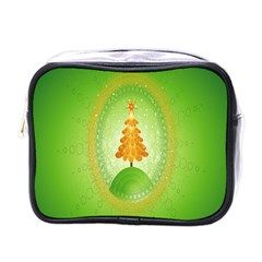 Beautiful Christmas Tree Design Mini Toiletries Bags