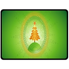 Beautiful Christmas Tree Design Fleece Blanket (Large)