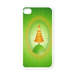 Beautiful Christmas Tree Design Apple iPhone 4 Case (White)