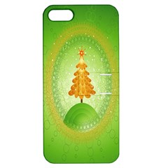 Beautiful Christmas Tree Design Apple iPhone 5 Hardshell Case with Stand