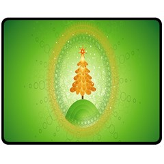 Beautiful Christmas Tree Design Double Sided Fleece Blanket (medium)